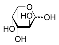 L-Fucose pyranose chemical structure.png