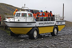 LARC-V - LARC V vehicle in use for tourist trips on Iceland – Jokulsarlon icelake