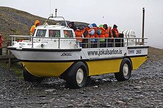 LARC-V - LARC V vehicle in use for tourist trips on Iceland – Jokulsarlon icelake