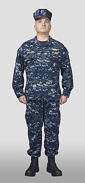 US Navy NWU Blue Camo Tie Back Surgical Scrub Hat