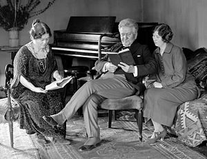 Belle Case La Follette - Belle Case La Follette (left) reading with her family in February 1924.