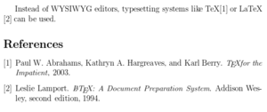 English: Bibliography style example for LaTeX ...