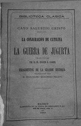 Salustio: Obras completas de Cayo Salustio Crispo