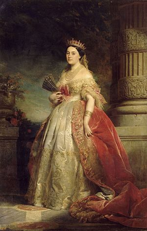 Mathilde Bonaparte - Portrait by Édouard Dubufe, 1861