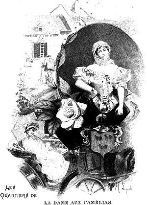 La Dame aux Camélias - Illustration by Albert Lynch