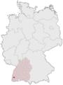 Lage der kreisfreien Stadt Freiburg im Breisgau in Deutschland.png