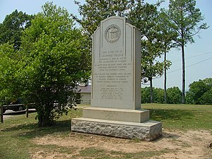 University of North Alabama - The monument marking the site of LaGrange College.
