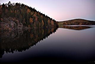 Glomma river in Norway