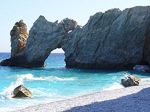 English: Lalaria Beach. Español: Skiathos, Lal...