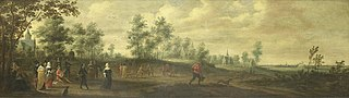 Landscape with a Dancing Couple