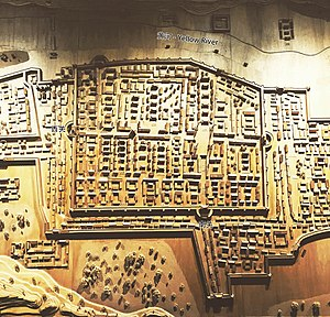 Lanzhou - Model of the walled city center of Lanzhou (of which little is left in the present day), it can be viewed in the Lanzhou City Planning Exhibition Hall.