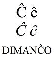 Latin small and capital letter c with circumflex.jpg