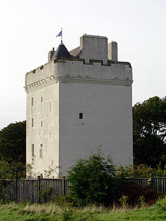 Law Castle castle in West Kilbride, Scotland