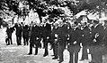 Le cortège officiel de l'Exposition de Toulouse en 1924, écoutant 'La Toulousaine' au Grand Rond autour du maire Paul Feugat (jouée par 'l'Harmonie des Enfants de Bône').jpg
