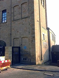 Photo of Kirkstall Brewery blue plaque