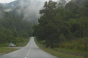 Lenggong -  A road in the lush greenery surrounding Lenggong.