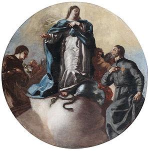 Leonardo Antonio Olivieri - Immaculate Conception with Saints Anthony and Camillo of Lellis, attributed to Olivieri.