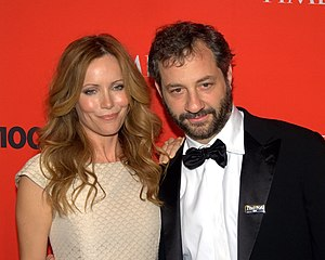 English: Leslie Mann and Judd Apatow at Time 1...