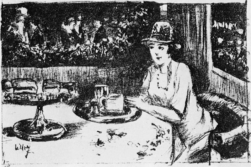 File:Lesser Ury Dame im Café.jpg