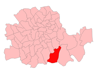 Lewisham West (UK Parliament constituency) - Lewisham West in London 1918-49