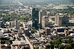 Downtown Lexington skyline in 2006