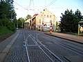 Liberec, Hanychovská, výjezd ze smyčky Viadukt.jpg
