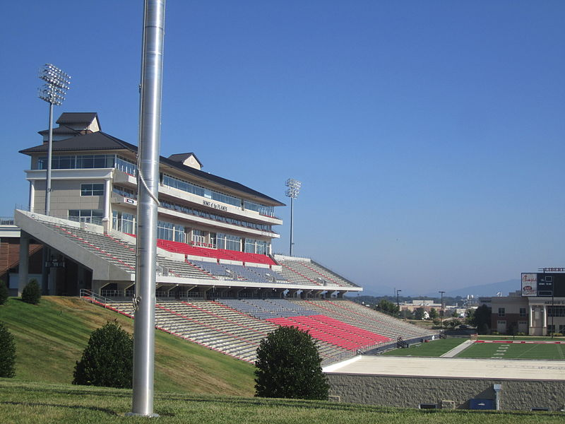 Liberty University Flames stadium, Lynchburg, VA IMG 4118.JPG