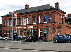 Lichfield gun attack - Front of Lichfield City Station were the attack took place