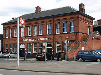 Lichfield City railway station - Image: Lichfield City station, David Kemp, geograph 2935723