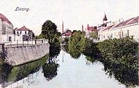 Liesingbach westl Brücke Perchtoldsd Str um 1900.jpg