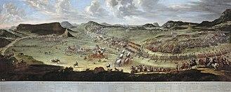Battle of Almansa - Batalla de Almansa. Landscape by Filippo Pallotta, figures by Buonaventura Ligli