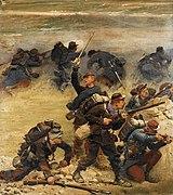 Lignards et mobiles au feu, fragment du panorama de La Bataille de Champigny.jpg