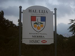 Lija - city limits sign.JPG