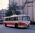 Limoges trolleybus 264 at Place Stalingrad in 1988.jpg