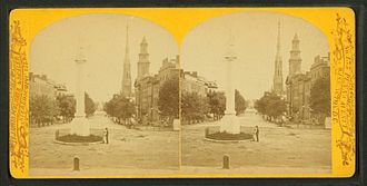 Abraham Lincoln (Flannery) - Stereoscopic views showing the statue c. 1865–1890