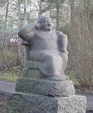 Liss Eriksson - Aunt, granite, Västertorp Sculpture Park, Stockholm. Photo: Bengt Oberger