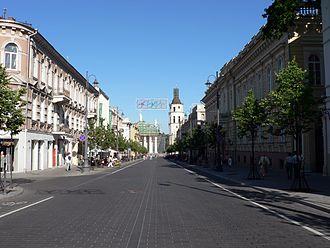 Gediminas Avenue - Gediminas Avenue as seen towards the Cathedral Square