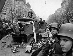 Lithuanian tanks in capital Vilnius 1939