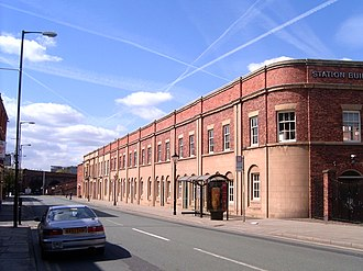 Station building - Image: Liverpool Road