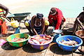 Local Cape Verde women preparing and selling fish, Santa Maria, Sal, Cape Verde (4334769216).jpg