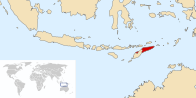 A map showing the location of East Timor
