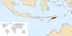 Location of East Timor