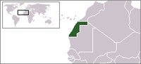 Map showing Western Sahara