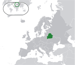 Location of Bélarus