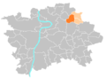Location map municipal district Prague - Praha 19 Kbely.PNG