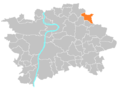 Location map municipal district Prague - Vinoř.PNG
