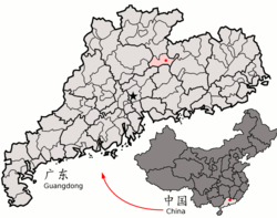 Location in Guangdong