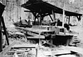 Log entering the sawmill, Lake Whatcom Logging Company, ca 1898-1901 (INDOCC 848).jpg