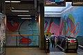 London, Woolwich Arsenal Station, mural MCM.JPG