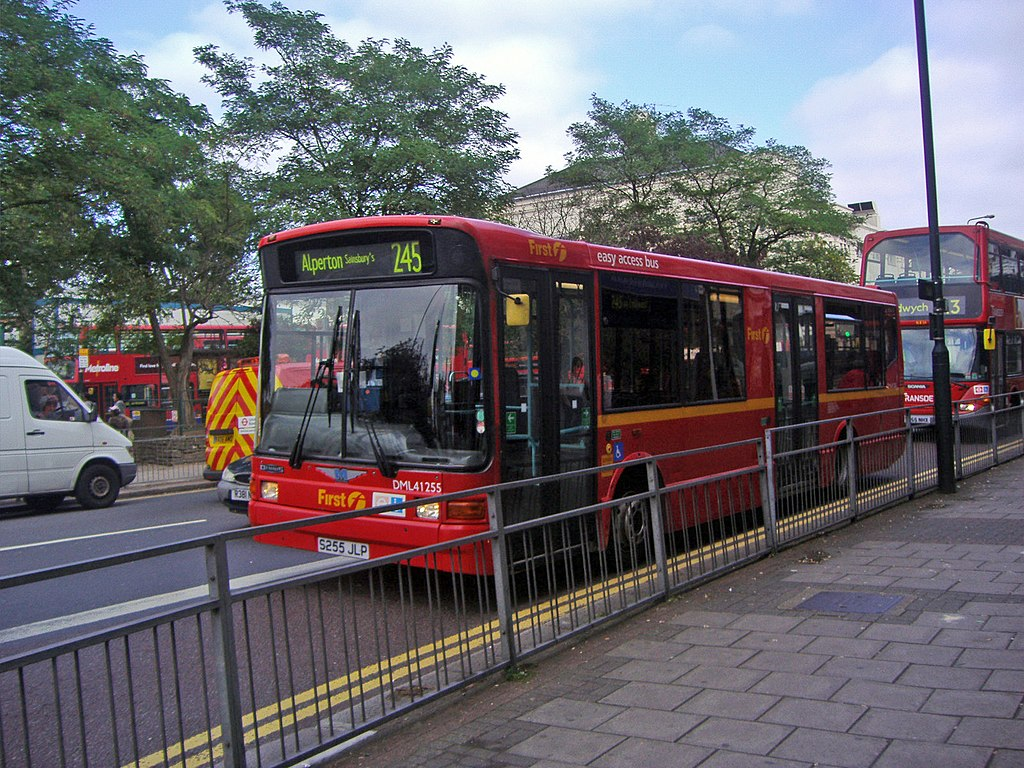 file:london buses route 245 north end rd - wikimedia commons
